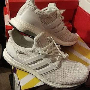 Adidas ultraboost 4.0 all white size 10.5